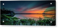 Mud Bay Sunset 4 Acrylic Print