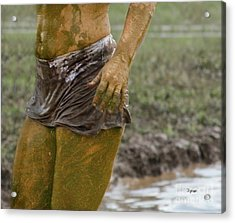Mud Woman  Acrylic Print by Steven Digman