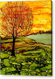 Muddy Fall Acrylic Print
