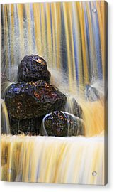Muddy Water-st Lucia Acrylic Print by Chester Williams