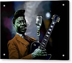Acrylic Print featuring the mixed media Muddy Waters - Mick Jagger's Grandfather by Dan Haraga