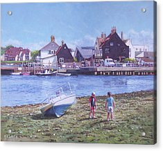 Mudeford Quay Christchurch From Hengistbury Head Acrylic Print by Martin Davey
