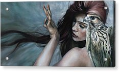 Acrylic Print featuring the painting Mudra by Ragen Mendenhall