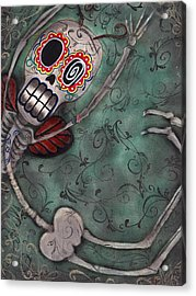 Muerte Fairy Acrylic Print by  Abril Andrade Griffith
