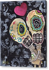 Muertos De Amor Acrylic Print by  Abril Andrade Griffith