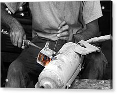 Muffler Weld Acrylic Print by Don Prioleau