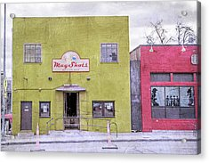 Mug Shots Austin Texas Acrylic Print by Betsy Knapp