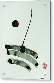 Acrylic Print featuring the painting Muga No Genri by Roberto Prusso
