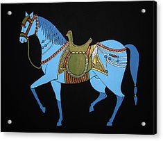 Mughal Horse Acrylic Print by Stephanie Moore