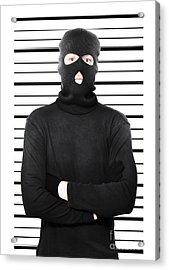 Mugshot Of A Busted Thief Acrylic Print by Jorgo Photography - Wall Art Gallery
