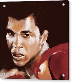 Muhammad Ali 551 1 Acrylic Print by Mawra Tahreem