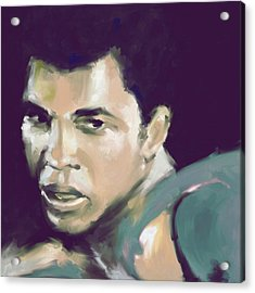 Muhammad Ali 551 2 Acrylic Print by Mawra Tahreem