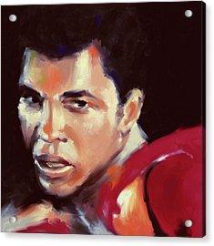 Muhammad Ali 551 3 Acrylic Print by Mawra Tahreem