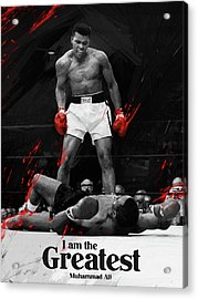 Muhammad Ali Acrylic Print by Afterdarkness