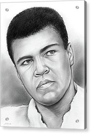 Muhammad Ali Acrylic Print by Greg Joens