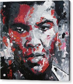 Acrylic Print featuring the painting Muhammad Ali II by Richard Day