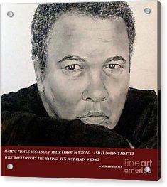 Muhammad Ali On Hating  Acrylic Print