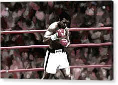 Muhammad Ali Painting Art Signed Prints Available At Laartwork.com Coupon Code Kodak Acrylic Print by Leon Jimenez