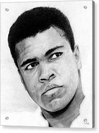 Muhammad Ali Pencil Drawing Acrylic Print