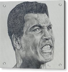 Muhammad Ali Acrylic Print by Stephen Sookoo