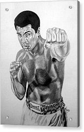 Muhammad Ali Acrylic Print by Van Beard