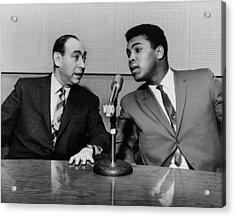 Muhammed Ali And Howard Cosell Acrylic Print by Everett