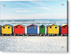 Muizenberg Beach Huts 2 Acrylic Print by Neil Overy