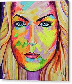 Mujer Acrylic Print by Angel Ortiz