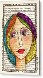 Mujer Acrylic Print by Delein Padilla