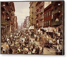 Mulberry Street In New York City Acrylic Print