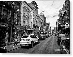 mulberry street little italy New York City USA Acrylic Print