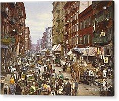 Mulberry Street Market New York City 1900 Acrylic Print