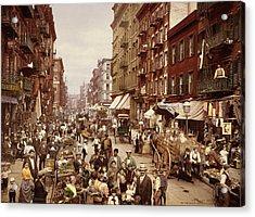 Mulberry Street, New York City Acrylic Print