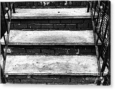 Mulberry Street Steps Mono Acrylic Print