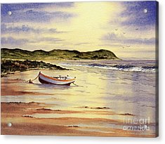 Acrylic Print featuring the painting Mull Of Kintyre Scotland by Bill Holkham