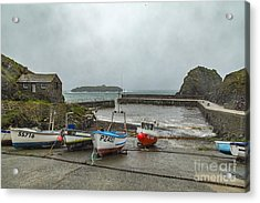 Acrylic Print featuring the photograph Mullion Cove Harbour by Brian Roscorla