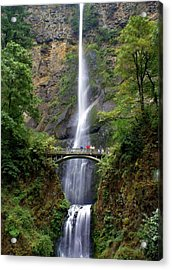 Multanomah Falls Acrylic Print by Marty Koch