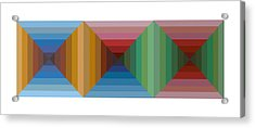 Multi-color Graphic Horizontal Maze Acrylic Print by Beverly Trivane
