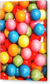 Multi Colored Gumballs. Sweets Background Acrylic Print
