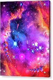 Multi Colored Space Chaos Acrylic Print by Matthias Hauser