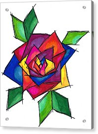 Multi Rose Acrylic Print