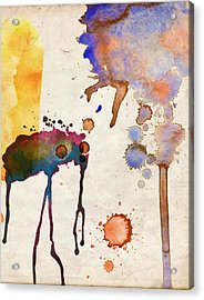 Multicolor Splash Acrylic Print
