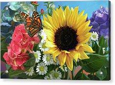 Multicolor With Monarch Acrylic Print