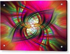 Multicolored Flower Twirl  Acrylic Print
