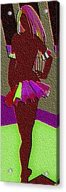 Multicolored Raven Standing Acrylic Print by Margie  Byrne
