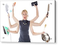 Multitasking Housewife Acrylic Print