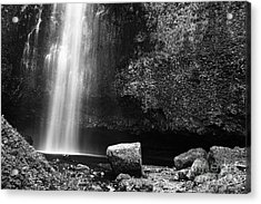 Multnomah Falls Base Acrylic Print by Charmian Vistaunet