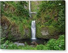 Acrylic Print featuring the photograph Multnomah Falls In Spring by Greg Nyquist