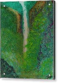 Multnomah Falls Acrylic Print by Lynnette Jones