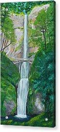 Multonomah Falls Acrylic Print